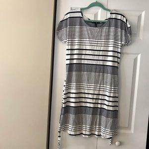 Gap white and dark blue stripped short dress